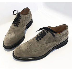 Hand-Made Doucal's 'Point' Suede Brogue Oxfords
